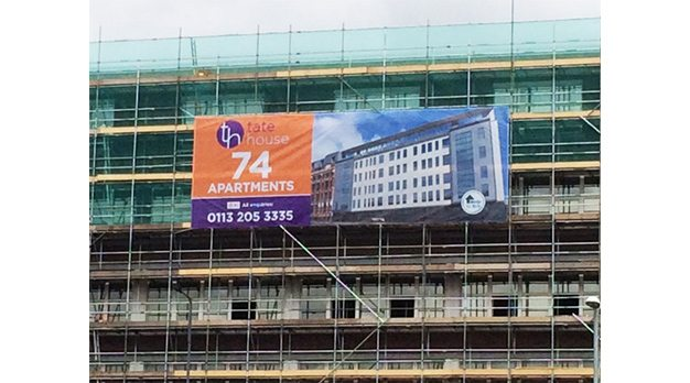banners for new build construction