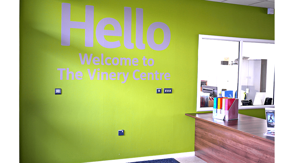 Vinery Centre Welcome Graphics by Digital Plus