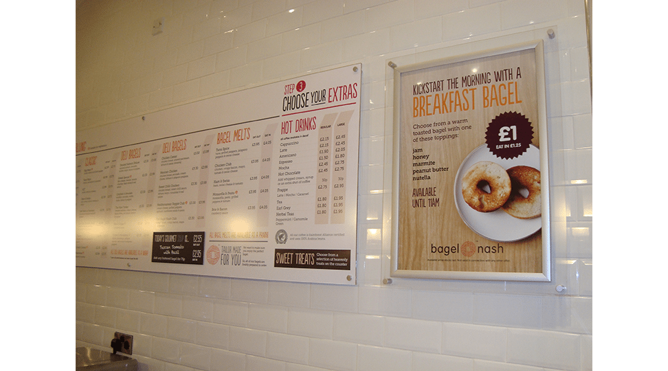 Bagel Nash Menu Printing by Digital Plus