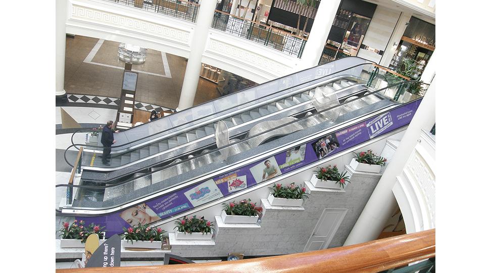 Meadowhall Escalator Graphics by Digital Plus