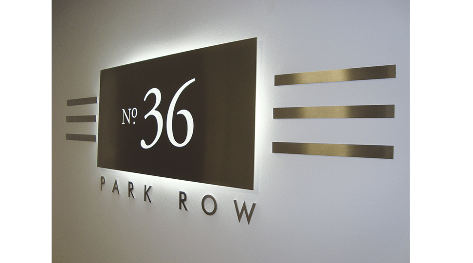 Park Row Offices Signage by Digital Plus