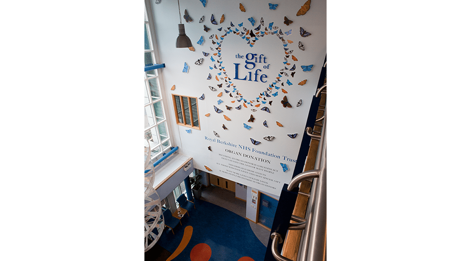 The Gift of Life Signage from Above