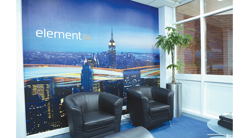 Farnell Electronics Reception Graphics by Digital Plus
