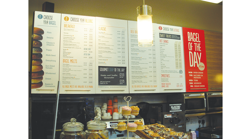 Bagel Nash Interior Menu Graphics by Digital Plus