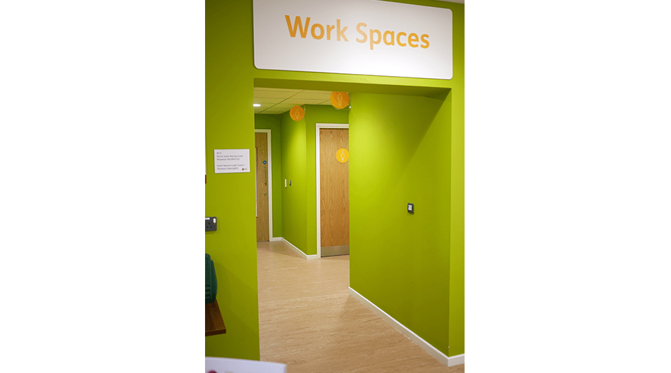 Work Spaces Entrance Graphics by Digital Plus