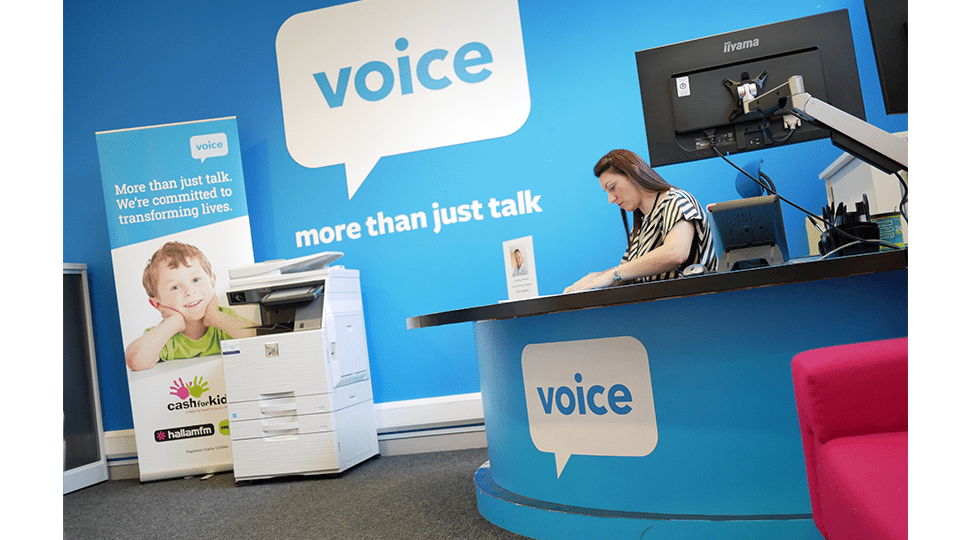 Voice Reception Graphics by Digital Plus