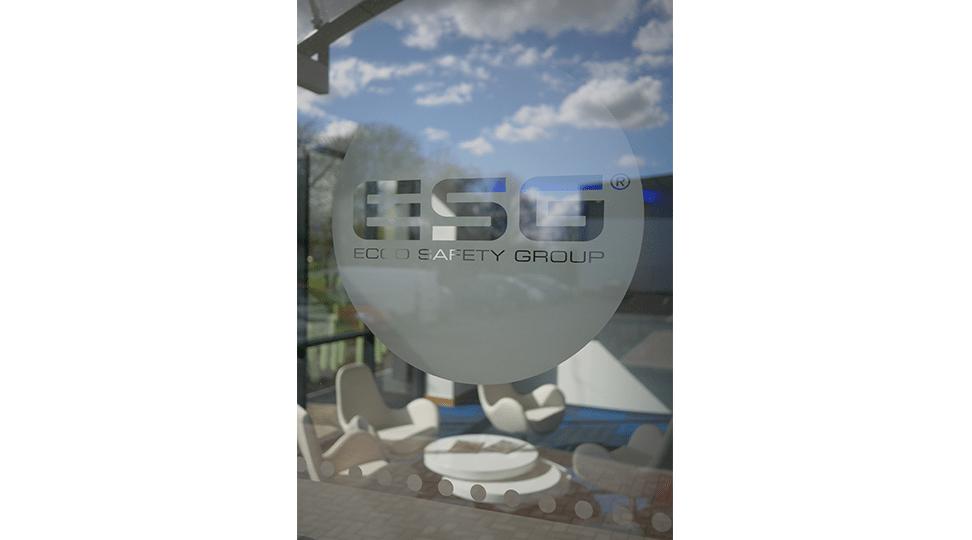 ESG Logo Glass Printing