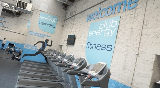 Treadmills with Gym Signage