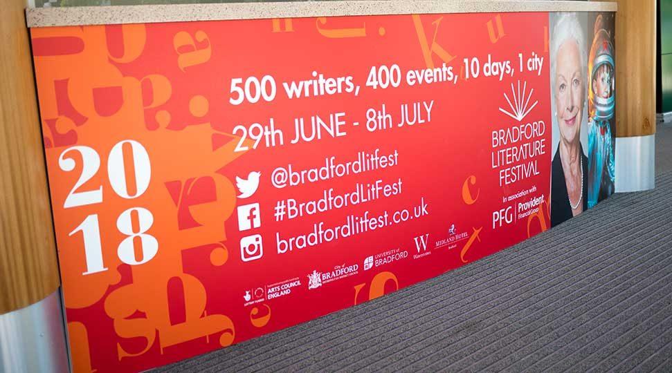 Bradford Lit Fest Promotional Signage