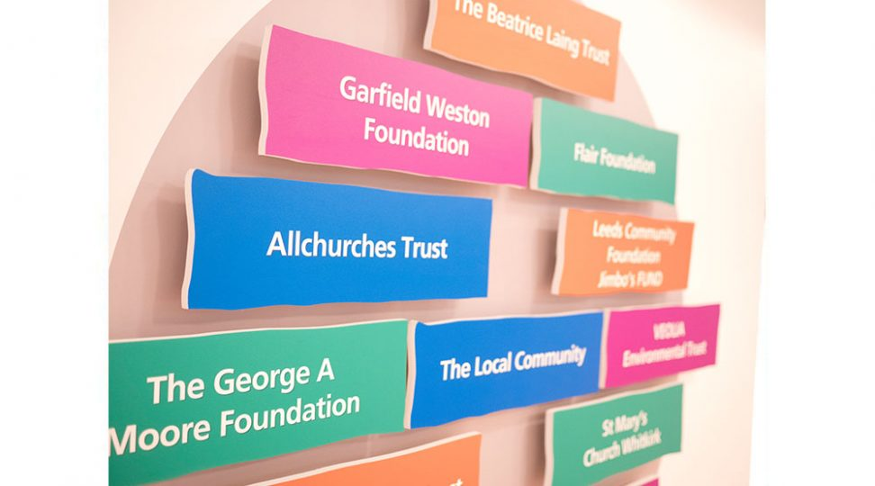 Church vision and values signage
