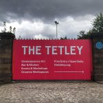 Bold colour print for the Tetley Leeds building