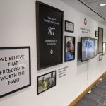 Wall display installation for Hope for Justice UK